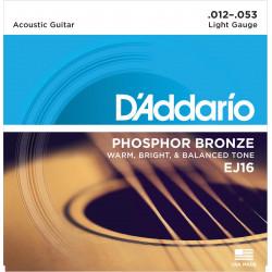 D'Addario EJ16. Serie EJ Phospor Bronze Light