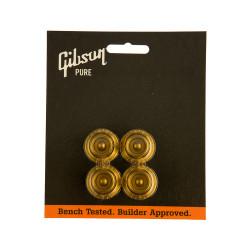 Juego de 4 botones Gibson PRHK-020 en color Gold. Repuesto original
