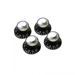 Juego de 4 botones Gibson PRMK-010 en color negro y plateado