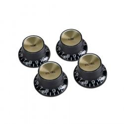 Juego de 4 botones Gibson PRMK-020 en color negro y gold