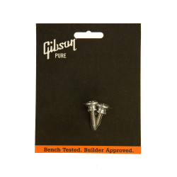 Tornillos sujeta correa de aluminio niquelado Gibson PREP-020
