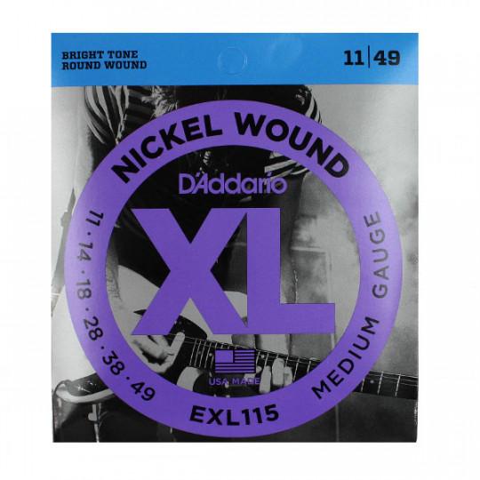 D'Addario EXL115 Juego Cuerdas Guitarra eléctrica