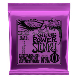 Ernie Ball 2620 Power Slinky 11 - 58 Juego de 7 cuerdas guitarra eléctrica