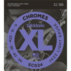 Juego cuerdas eléctrica D`Addario Chromes ECG24 11-50