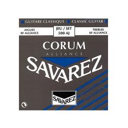 Juego cuerdas Guitarra clásica Savarez 500 AJ Tensión fuerte