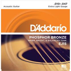 Juego cuerdas Acústica Daddario EJ15 Extra Light
