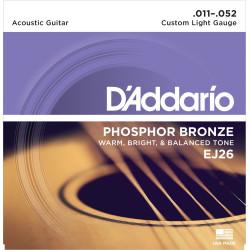 Juego de cuerdas Daddario EJ26 Acústica