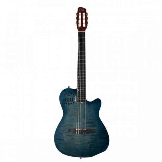 Guitarra clásica Godin Multiac ACS Denim Blue Flame
