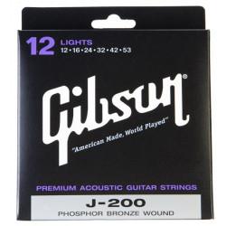 Juego cuerdas Guitarra acústica Gibson SAG -J200L