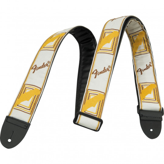 Correa Fender Monogrammed White/Brown/Yellow