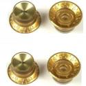 Juego de 4 botones Gibson PRMK-030 en color gold