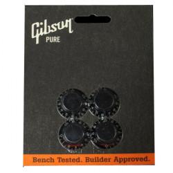 Juego de 4 botones Gibson PRHK-010 en color negro.